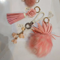 customized fur keychain with kind of color and styles