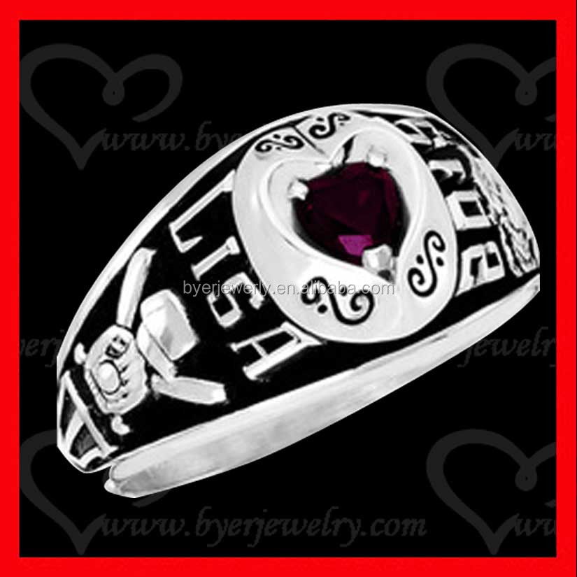free 3D design make your customized class ring engrave name inside band