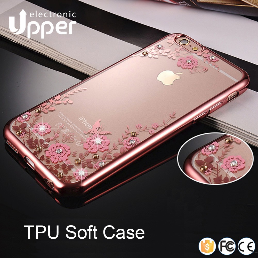 2016 Soft TPU Glitter cell phone back cover crystal phone case for samsung galaxy j5/j7
