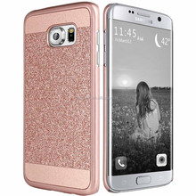For Samsung S7 eage Case shockproof, Anti-dirt multi-color Slim Design Special wth sparkle leather cover