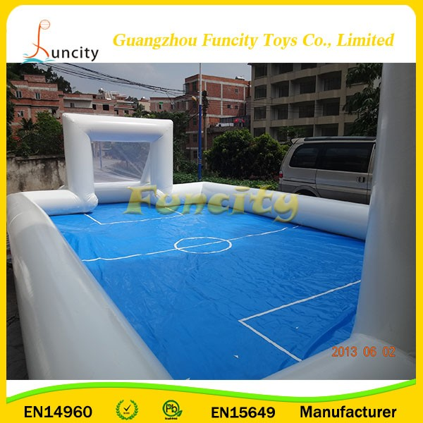 You will fall in love with suitable for playing in a group football arena inflatables