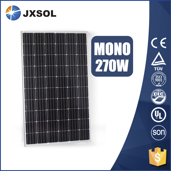 TUV CE ISO certificated cheap price 270w mono photovoltaic solar panels for home use