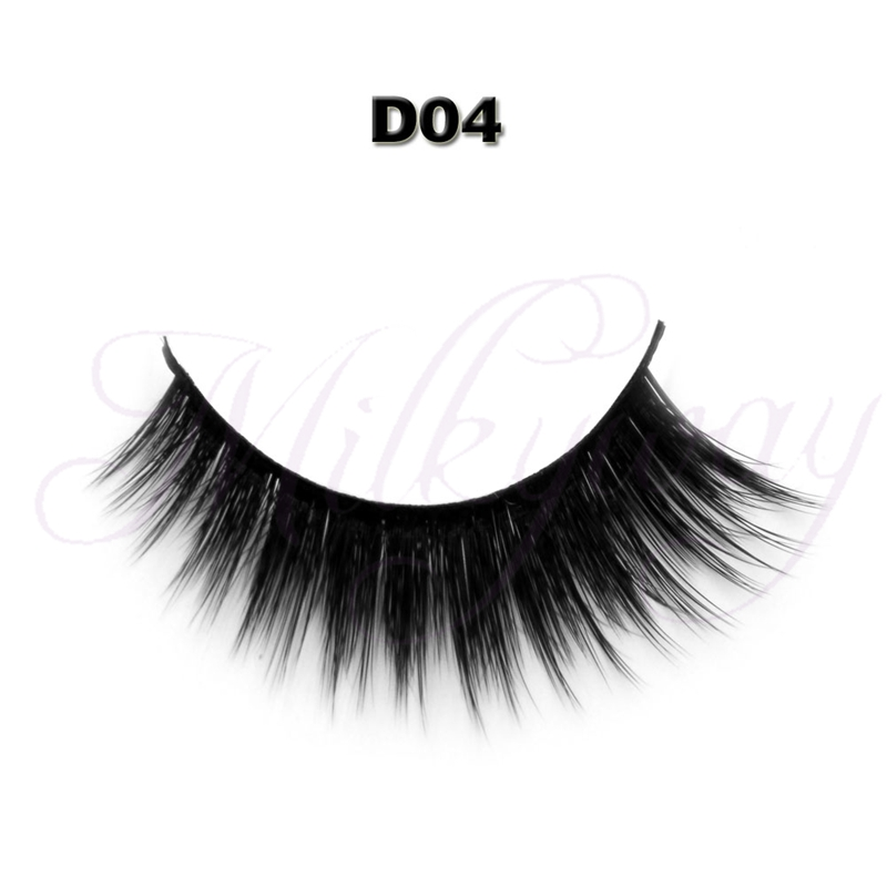 Top quality luxury Newest private label false eyelash 3D style with 0.07 silk eyelashes