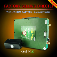 50AH 100AH 12v dry cell lithium solar storage battery from China