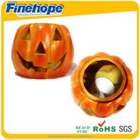 Customize Polyurethane OEM carving fake pumpkins Halloween pumpkin heads pu Halloween pumpkin lights