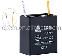 EPERS fan capacitor 4uf 450VAC wire square box type motor capacitor motor run capacitor