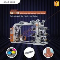 SLT-RB full-automatic six colors plastic bag film flexo printing machine price