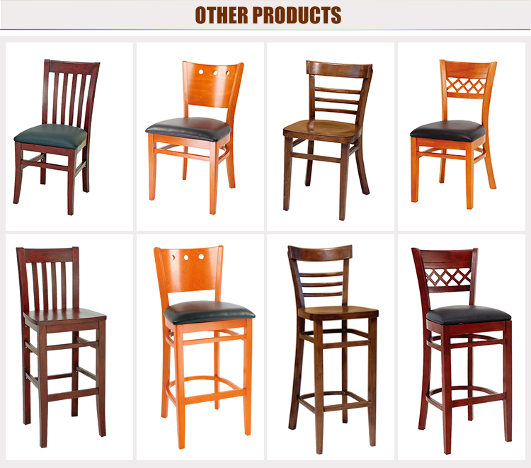 Eco friendly kitchen wood frame high back chair