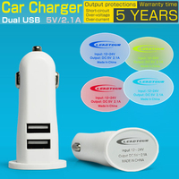 [5Year Warranty]5V/2.1A or 3100mA Dual USB Car Charger with RGB led light gradient color logo