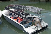 Hot solar electric boat