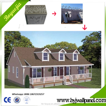 Cheap easy build prefabricated building prefab houses with lightweight wall panel