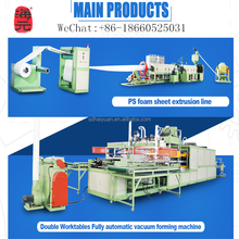 ps foam food container thermoforming mold and molding machine,Contact Ellie's WeChat:+86-18660525031