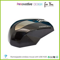 Brand New Cool Design 2.4G Wireless Rechargeable Mouse With Docking Station