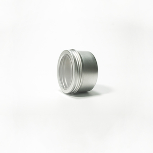 120ml 4oz Metal Tin with window Cosmetic Aluminum Jar cosmetinc jar/large tin cans with lid/gift candy jar- 120ml 6842K
