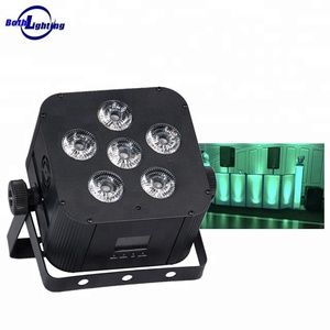 2018 New Pro Smartphone Wifi 6pcs Battery Powered Uplight Led Wedding Wireless DMX DJ Event small rgbwauv led par