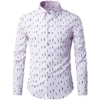 Business Slim Fit Gift Men Shirt Dry Fit Long Sleeve Cotton Polos Printed Unique Tshirt