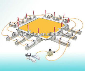 Screen stretcher, pneumatic mesh stretcher