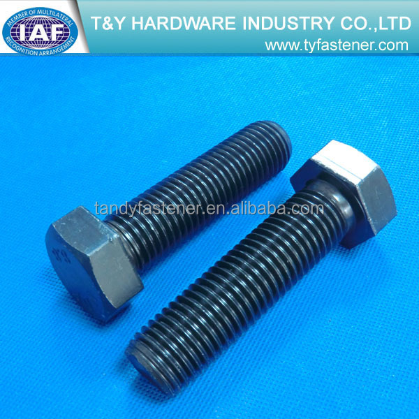 hex cap <strong>screw</strong> din961 class4.8/8.8/10.9 zinc plated superior quality
