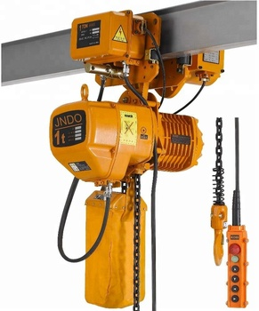 HHBB 1 ton electric chain hoist with wireless remote control