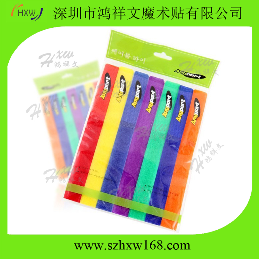 wholesale colored reusable hook loop cable organizers