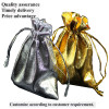 Gold And Silver Organza Bag For Gift, Cheap gift Bags,Candy Bags Gold Metallic Foil Organza Bag