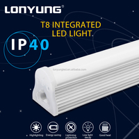 T8 LED lighting refrigerated cabinet 2700-6500K china 18w 4ft integrated led tube light