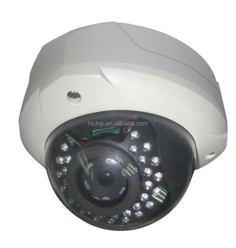 Full HD 1080P Vandal-proof Dome P2P IP Network Camera IR with two way audio, 20m night vision