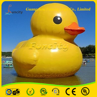 CE Certificate Inflatable Rubber Duck , Yellow Promotion Duck , Weighted Floating Rubber Ducks for Advertising Events