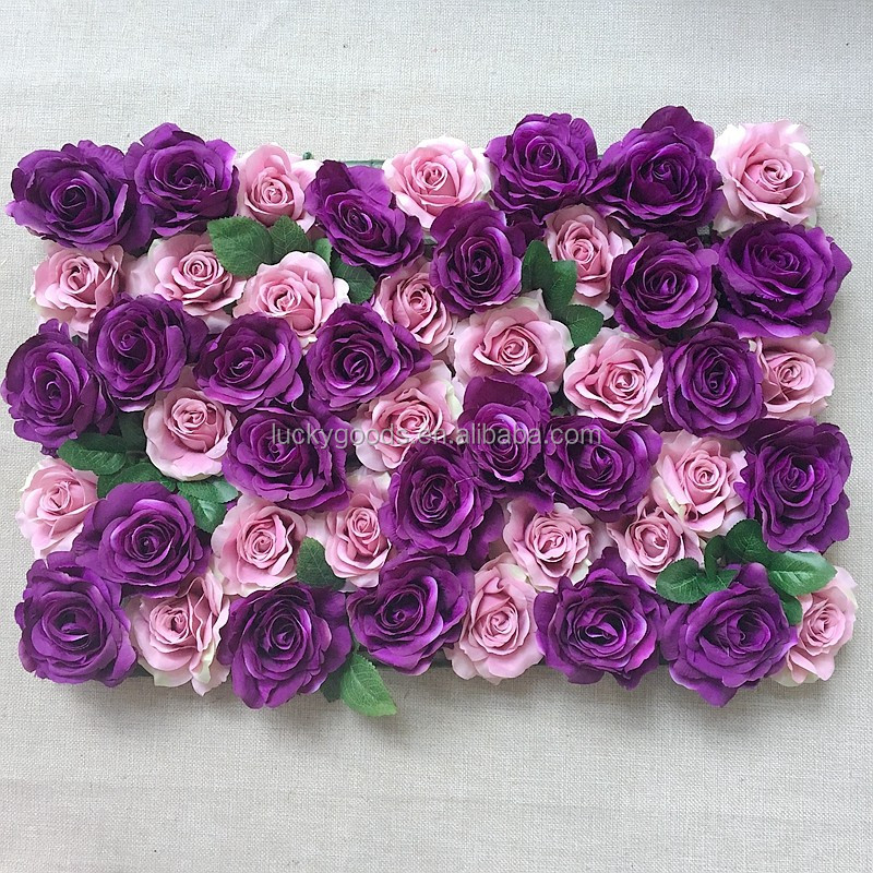 Factory direct sale high quality dark purple rose panel wedding banquet decoration