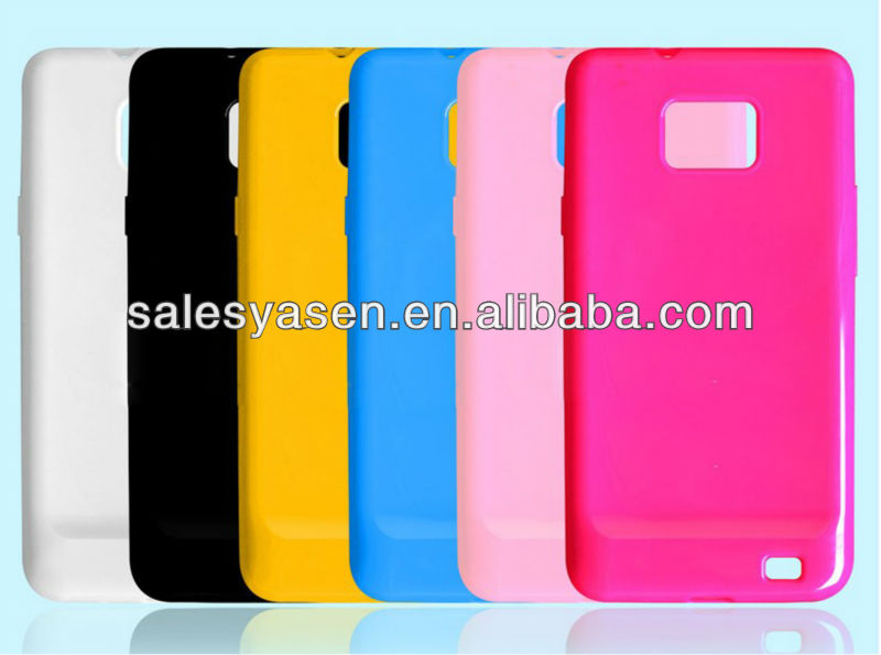 Soft clear material TPU case for samsung I9100 galaxy S2