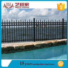 Yishu Metal Powder Coated decorative aluminum fence of panels