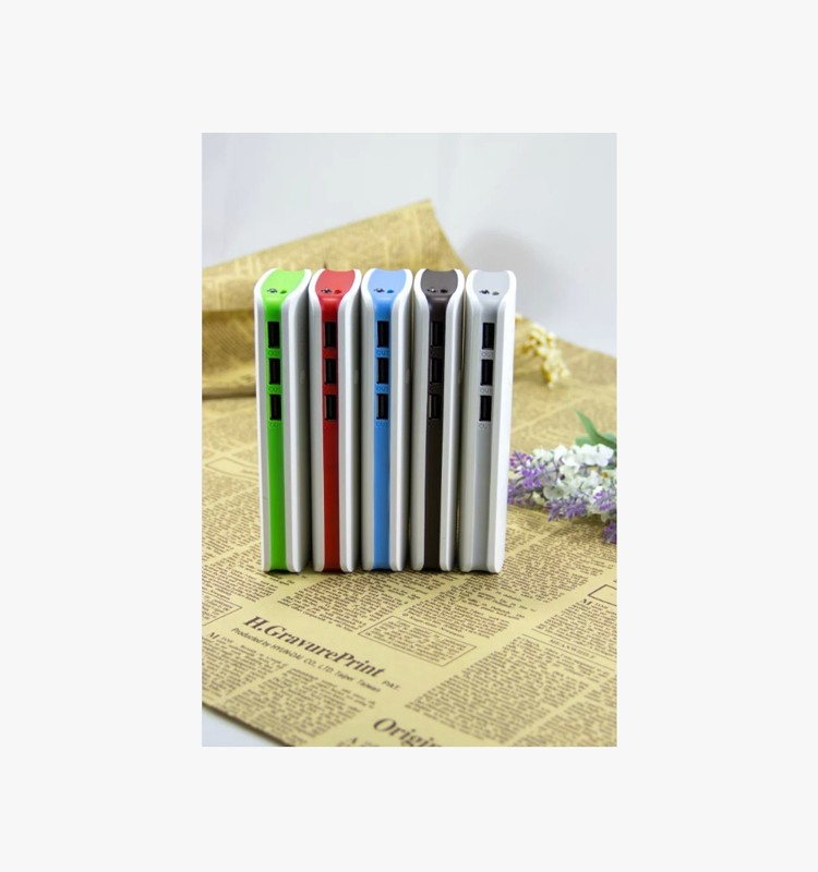 smartphone 3USB output 10000mah charger power bank