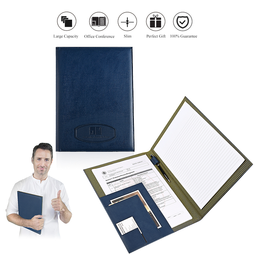 Wholesale A4 Leather Portfolio Business File Folder Resume Padfolio With Pen Holder And Card Holder