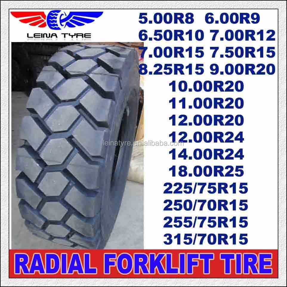 High quality radial industrial forklift tires 12.00R20 12.00R24 14.00R24 18.00R25