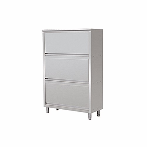 Comkit SC-J1-SC30 Commercial Kitchen Stainless Steel Storage Cabinet With Three Doors