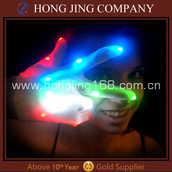 Flashing light up led gloves for party