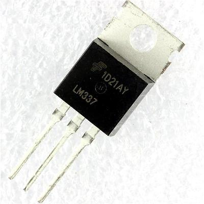 50. LM337T LM337 TO-220 Negative Adjustable Regulator IC NEW