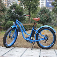 Best quality cheap 48v 500w beach fat tire electric ecycle/bicycle/bike for sale(RSEB-506)
