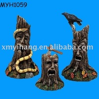 Halloween creepy decorative tree stump