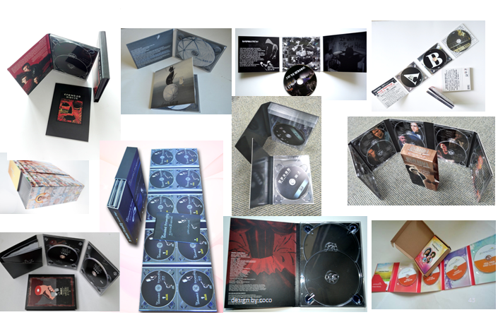 Clear cd hub en cd proberen digipack & cd digipak