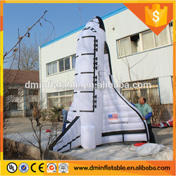 Outdoor Advertisement inflatble rocket model , inflatable airship Spaceship flying boat