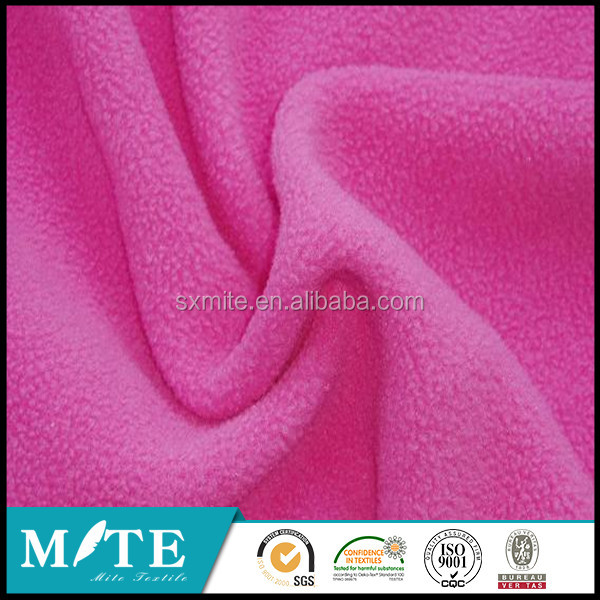 2015 winter hot sale 100%polyester pink micro polar fleece fabric