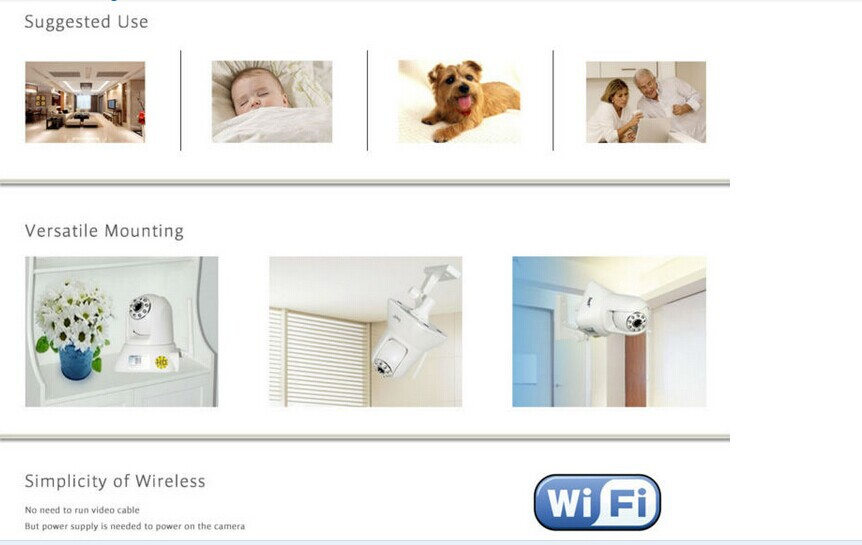 Similiar with xiaomi carmera and 720P baby monitor IP Camera with Wifi Night Vision for home use