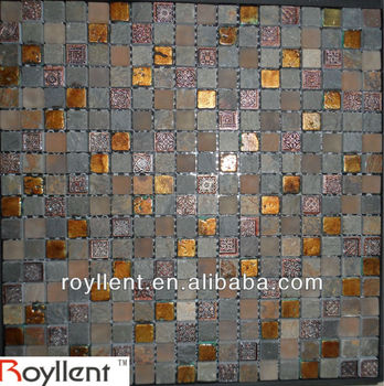 purple glass mosaic tile