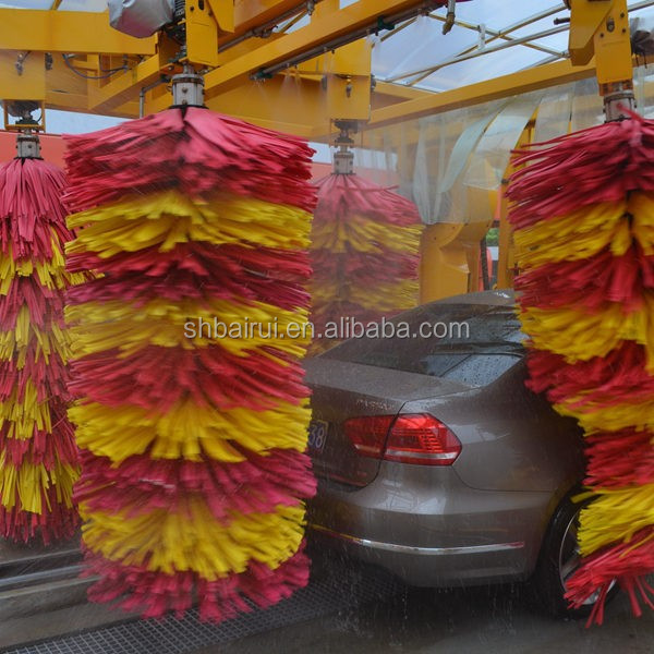 7 brushes automatic tunnel car washing machine,automatic tunnel car washing machine