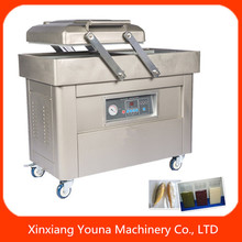 double chamber fruit/food/chicken vacuum packing machine