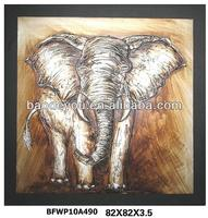 2014 Complete 100% Handmade Thailand Elephant Oriental Oil Paints For Living Accessory