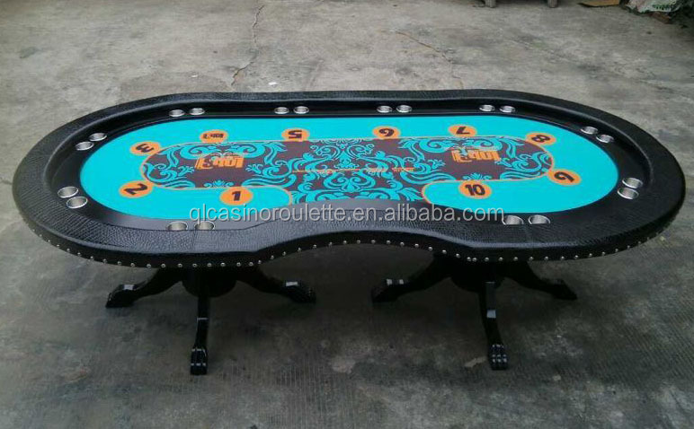 Luxury Texas holdem poker table with rivet and solid wood leg