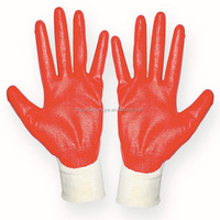 13G Polyester Industrial Working Safety Glove Nitrile Coated Glove