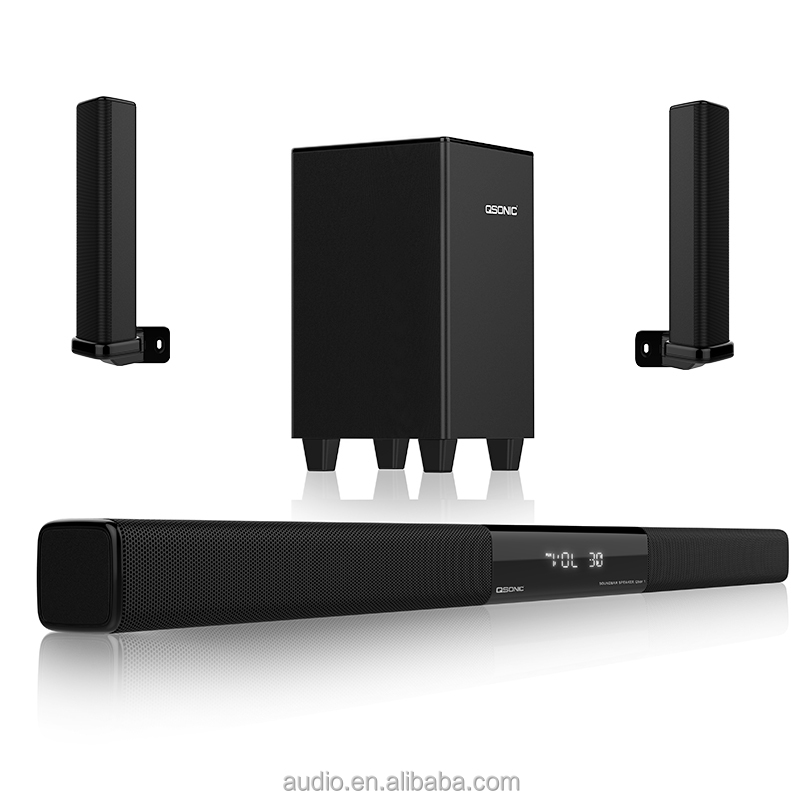 J.SUN Hifi audio guide system sound bar 5.1 bluetooth sound master speaker slim active subwoofer